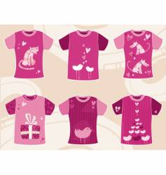 valentines day t shirts design vector image vector image