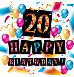 20th anniversary celebration logotype vector