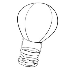 a children coloring bookpage cute air balloon vector image