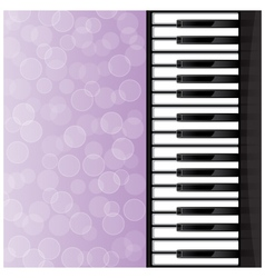 Abstract background with piano keys vector image