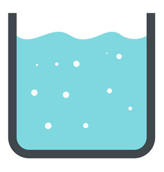 Beaker with pure blue water icon isolated vector