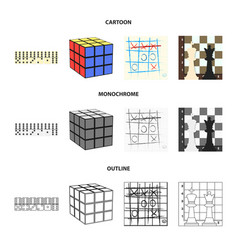 board game cartoonoutlinemonochrome icons in set vector image