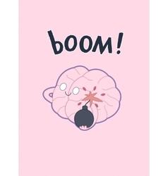 Boom brain poster vector