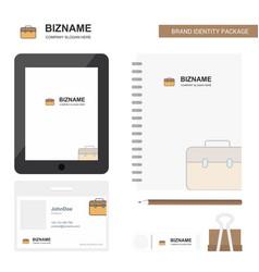 Breifcase business logo tab app diary pvc vector
