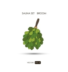 Broom Sauna accessories on a white background vector image