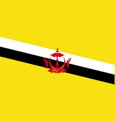 Bruneis national flag with official colors vector