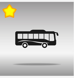 bus icon blue on a gray background vector image