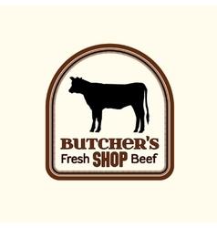 Butcher shop logo vector image