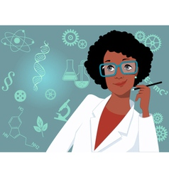 Career for women in science and technology vector
