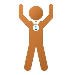 Child Champion Gradient Icon vector image