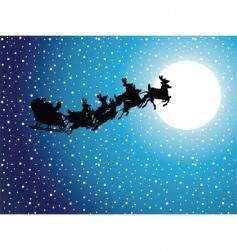 christmas scene vector image