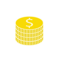 Coins flat icon finance and business vector