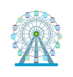 Colorful ferris wheel on white background vector