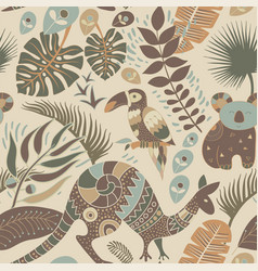 colorful seamless pattern with australian animals vector image