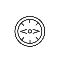 Compass icon linear symbol with thin outline vector