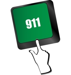 Computer keyboard keys with the 911 sign vector