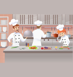 concept of the restaurant business vector image