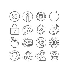 Cross sell close button and consolidation icons vector
