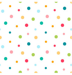 Cute dotted confetti seamless pattern vector