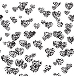 Cute ornament with hearts vector