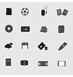 Data storage media stickers eps10 vector