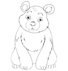 Doodle animal character for bear vector