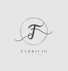 elegant initial letter type f logo vector image