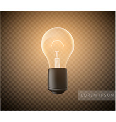 figure a luminous light bulb on a transparent vector image
