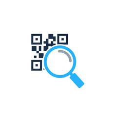 Find barcode logo icon design vector