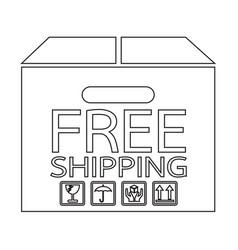 Free shipping box icon symbol design vector
