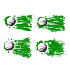 golf balls sport club grunge banners vector image