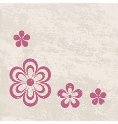 grungy floral border vector image