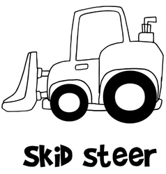 Hand draw of skid steer vector image