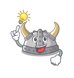 Have an idea viking helmet in a cartoon vector