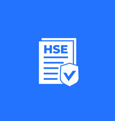 Hse icon health safety and environment vector