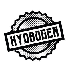 Hydrogen stamp on white vector
