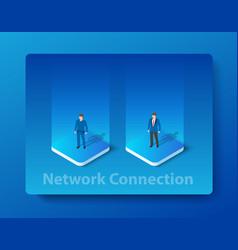 Isometric of network vector