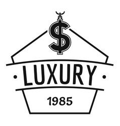 Jewelry luxury logo simple black style vector