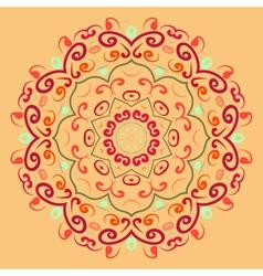 Lace round ornament vector