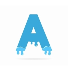 Letter A logo or symbol icon vector image