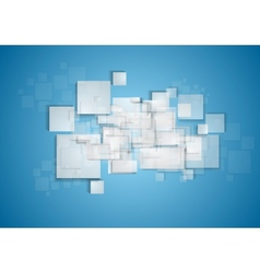 Light grey squares on blue background vector
