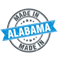 Made in alabama blue round vintage stamp vector