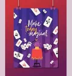 magician show magic man or magical and cartoon vector image