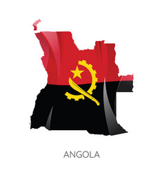 map angola vector image