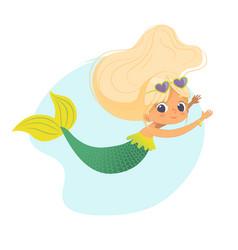 mermaid beautiful girl sea character art design vector image