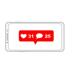 mobile phone notification vector image