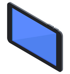 mobile tablet with blank blue screen isometric vector image
