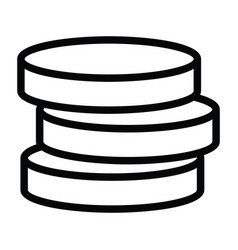 money coin stack icon with outline style vector image