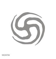 Monochrome icon with adinkra symbol nkontim vector