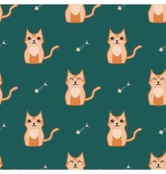 Orange and dark green cat backround vector